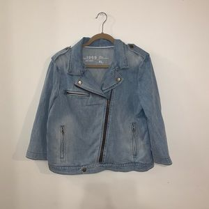 Gap denim moto jacket.